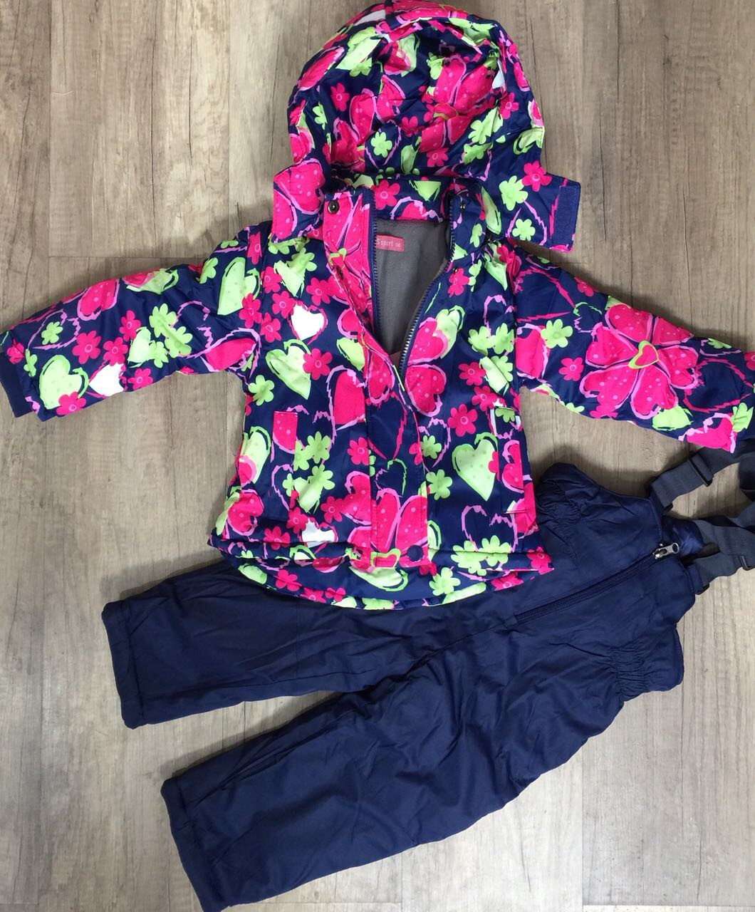 Комбинезон для девочек на флисе оптом (куртка +комбинезон), Taurus, 98-128 рр.,DL-612