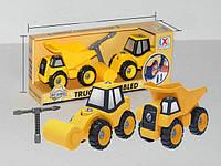 CXL200-28D Игровой набор-конструктор ДОРОЖНЫЙ КАТОК и  САМОСВАЛ CAN XIN LONG