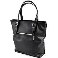 Черная женская сумка-корзина на плечо М180-48 с длинными ручками, фото 1