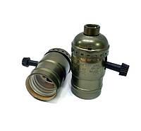 Ретро патрон UkrLed бронзовый для лампы Эдисона Е27 (c выключателем-винтом) (726)