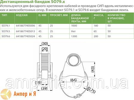 Бандаж дистанционный SO79.5 ENSTO, фото 2