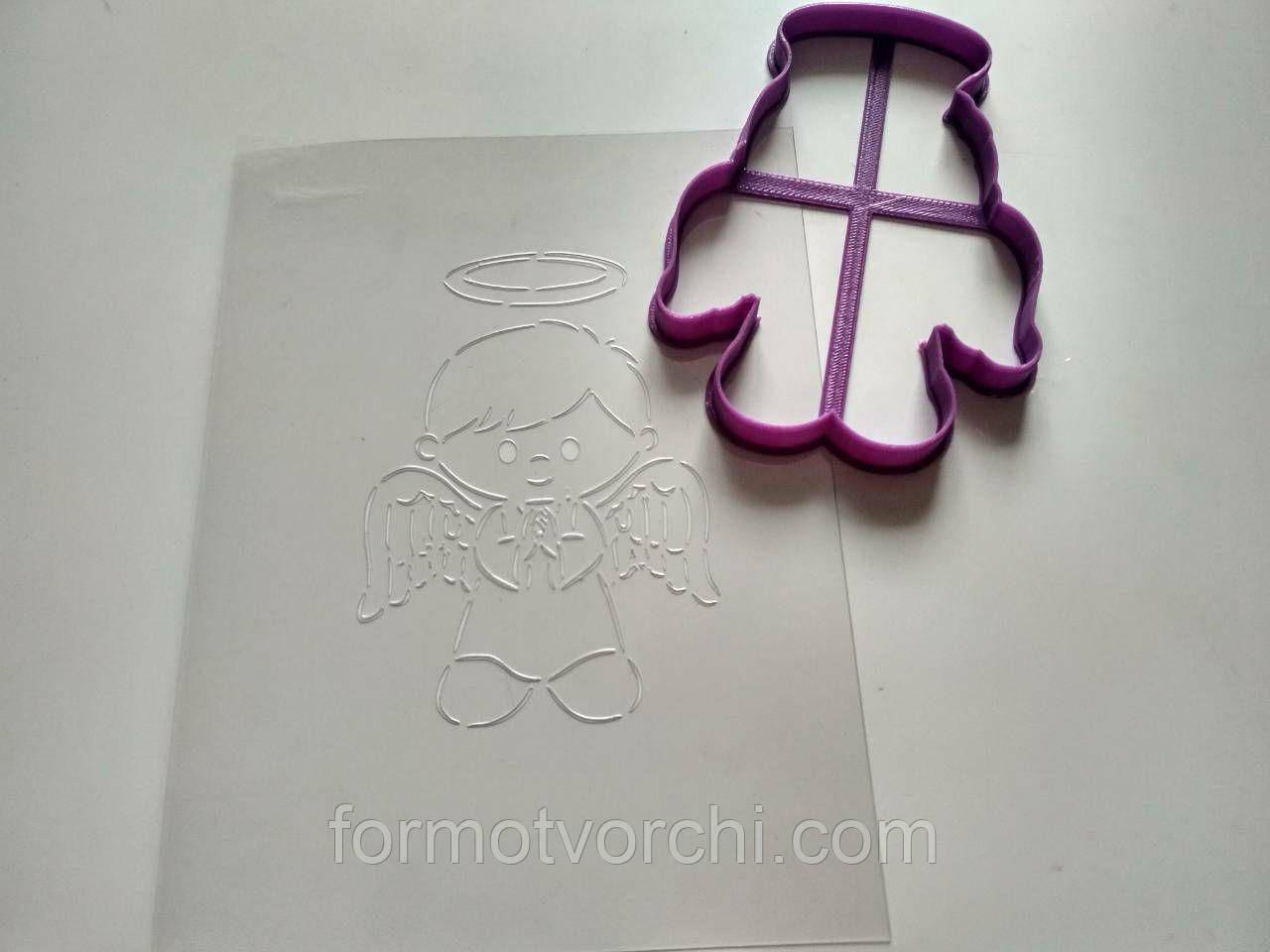 """3D формочки-вырубки для пряников """"Ангел 20"""""""