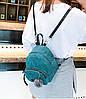 Стильные вельветовые мини рюкзаки с помпоном, фото 5