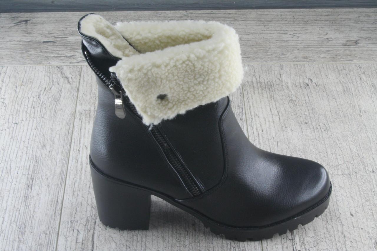 a395c169801e Ботинки, ботильоны на каблуке LION, обувь женская зимняя из эко кожи -  Интернет-