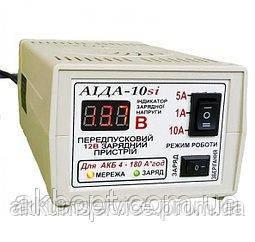 Зарядний пристрій АЇДА 10si з цифровим екраном для гелевих АКБ