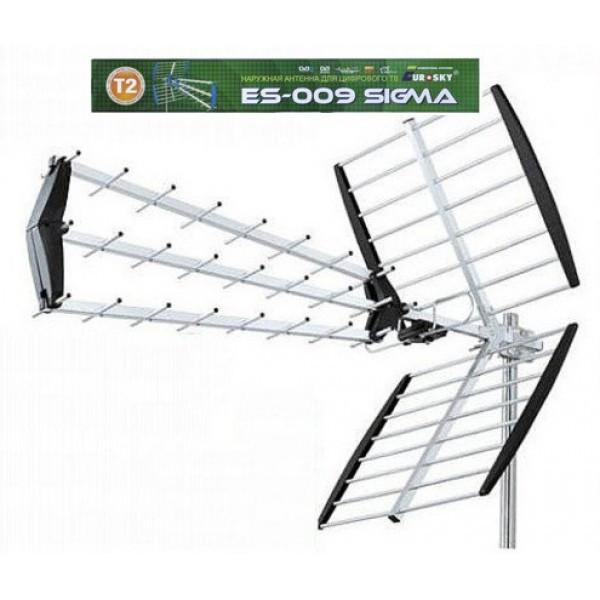 Eurosky 009 Sigma наружная DVB-T/T2 антенна для Т2 тюнера