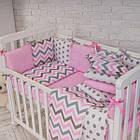Комплект детского постельного белья Baby Design Премиум Индиго розовый 6пр, фото 6