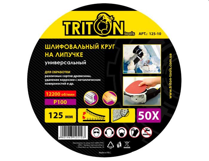 Круг на липучке Triton tools 125мм - 100 (125-100)