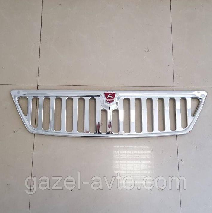 Решетка радиатора Газель нового образца хром с эмблемой (пр-во покуп. ГАЗ)