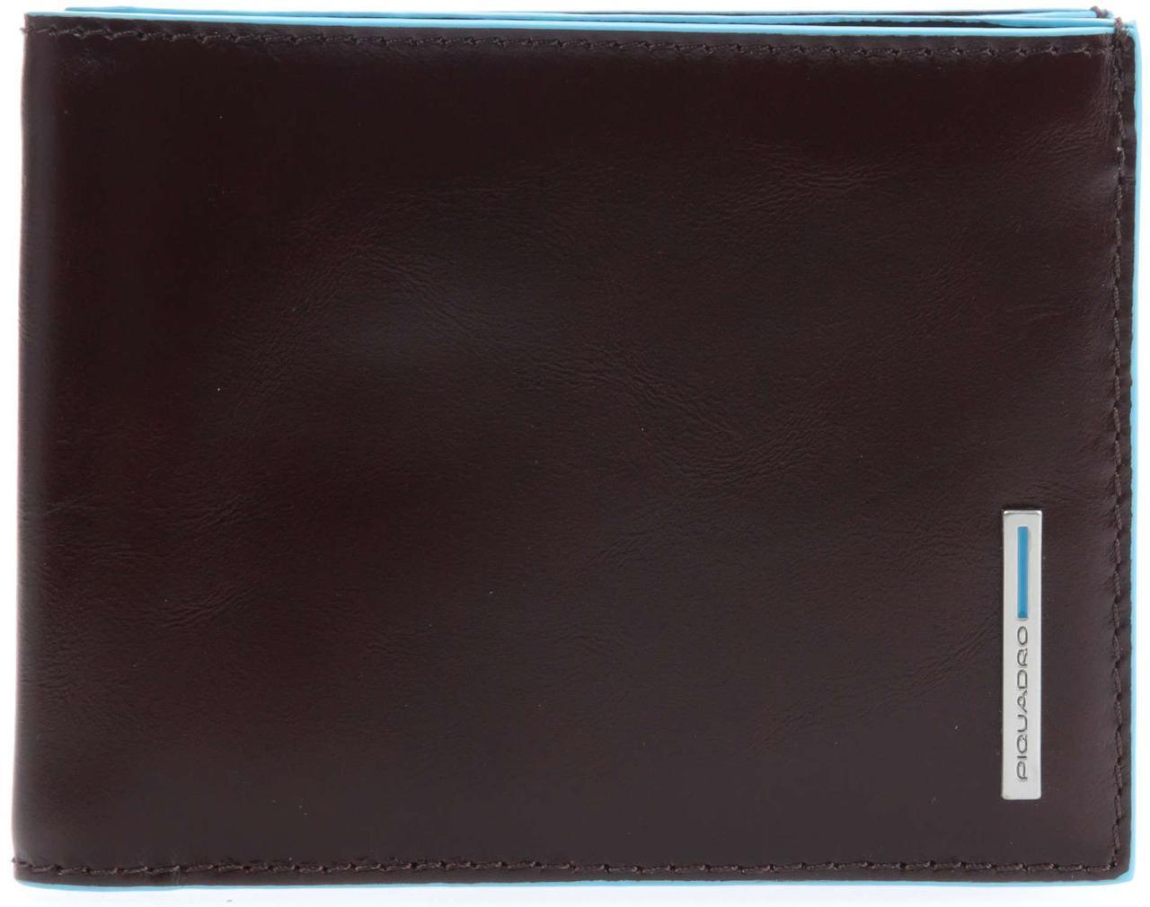Портмоне Piquadro Blue Square 12,5x9,5x2см. с отделением для монет PU1239B2_MO коричневый