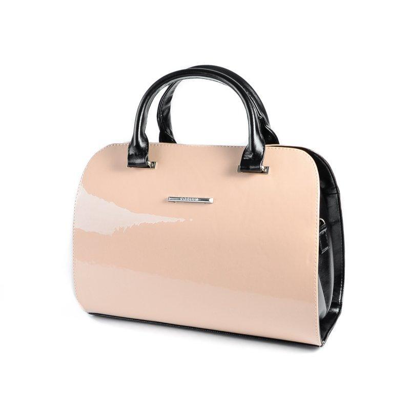 beb9593ed3dc Розовая лаковая сумка саквояж М111-80/Z овальная женская пудра, фото 1