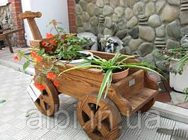 Садовый декор Тачка деревянная Прованс