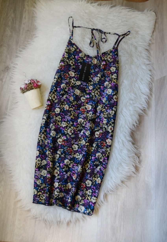 Новое легкое платье в цветочный принт расширенного силуэта New Look