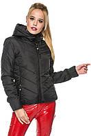 Женская демисезонная куртка черная, фото 1