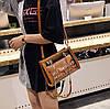 Женская сумка с прозрачной силиконовой вставкой и клатчем, фото 5