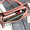 Женская сумка с прозрачной силиконовой вставкой и клатчем, фото 6