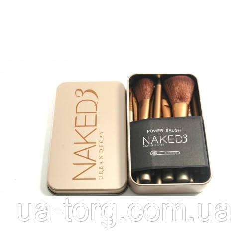 Набор кистей для макияжа Naked3 (упаковка повреждена)