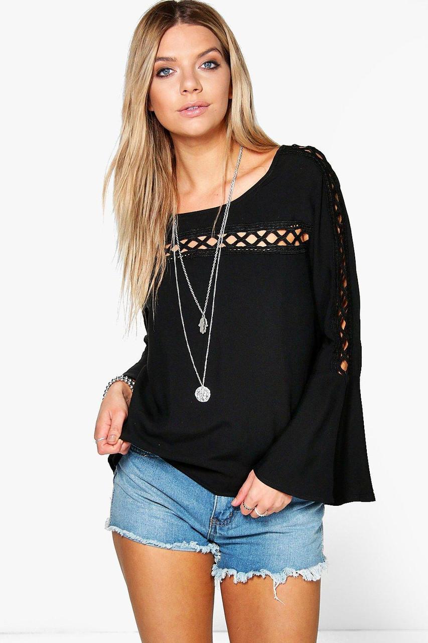Новая блуза с ажурными вставками Boohoo