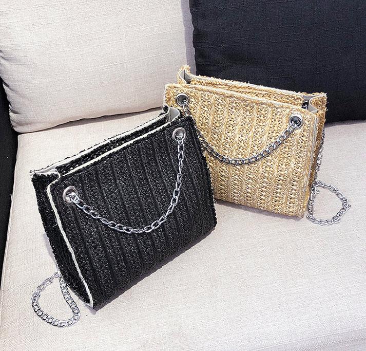 Стильная твидовая \ вязаная сумочка на цепочке