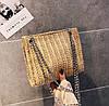 Стильная твидовая \ вязаная сумочка на цепочке, фото 3