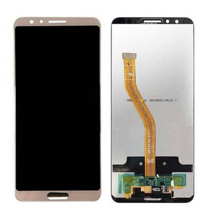 Дисплей (экран) для Huawei Nova 2s з сенсором (тачскріном) золотистый, фото 2