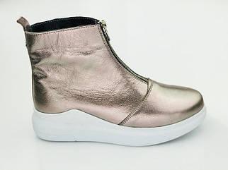 Осенние женские ботинки из натуральной кожи на низком ходу 36-40 р