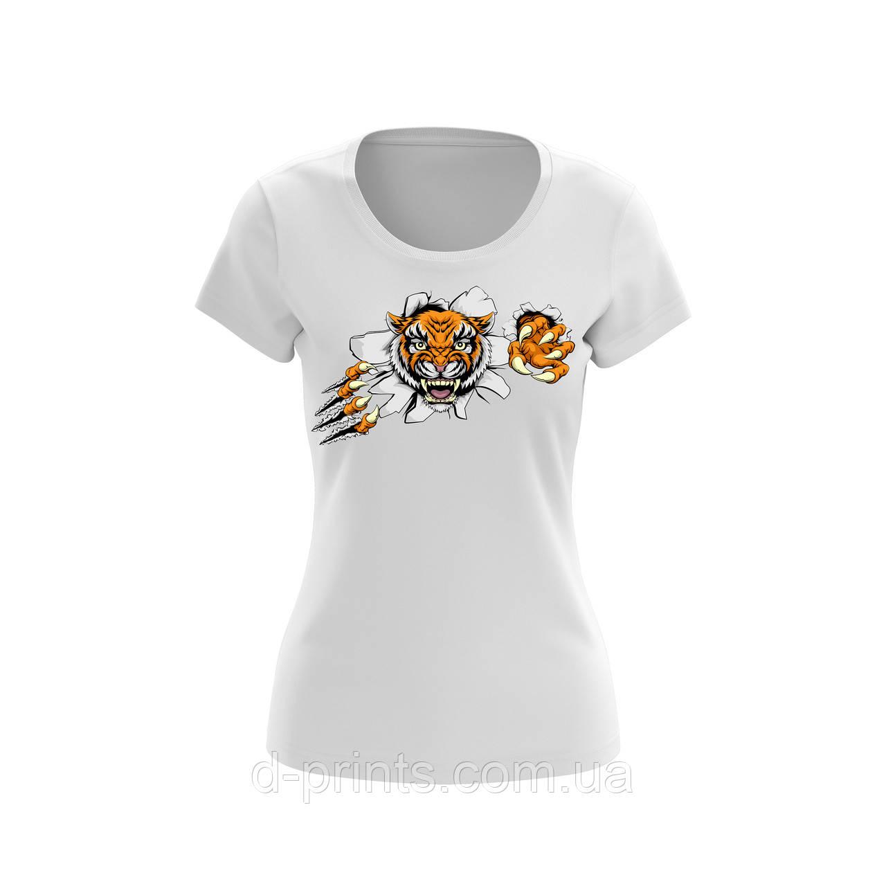 """Футболка женская с рисунком """"Тигр"""""""