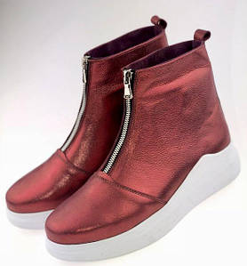 Осенние кожаные ботинки на низком ходу 36-40 р