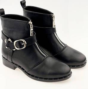 Демисезонные кожаные ботинки в стиле Casual 36-40 р
