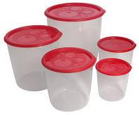 Набор контейнеров круглых высоких многофункциональных 5шт С265