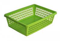 Корзина для хранения «Велетта» прямоугольная 34х21х10см Зеленый С713 ЗЕЛ