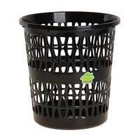 Корзина для мусора пластиковая  «Феста» 11л Черный С722 ЧОР