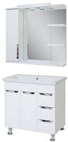 Комплект мебели для ванной комнаты АЛЬВЕУС 80 с умывальником Комо 80
