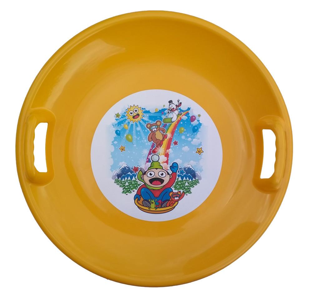 Тарелка ледянка Kimet желтый