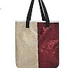 Эксклюзивная большая сумка холст с двусторонней пайеткой, фото 2