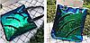 Эксклюзивная большая сумка холст с двусторонней пайеткой, фото 6