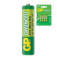Батарейка солевая GP 24G-U4 Greencell R3 AAA минипальчиковая (блистер)