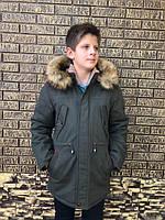 Детская  парка зимняя на меху для мальчика, фото 1