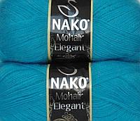 Пряжа Nako Mohair Elegant мохер цвет бирюза
