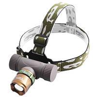 Ультрафиолетовый фонарь на лоб Police 12V 6866-UV 365 nm, ultra strong, zoom