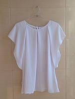 Блуза SLY белая школьная с рукавами-крылышками р.146