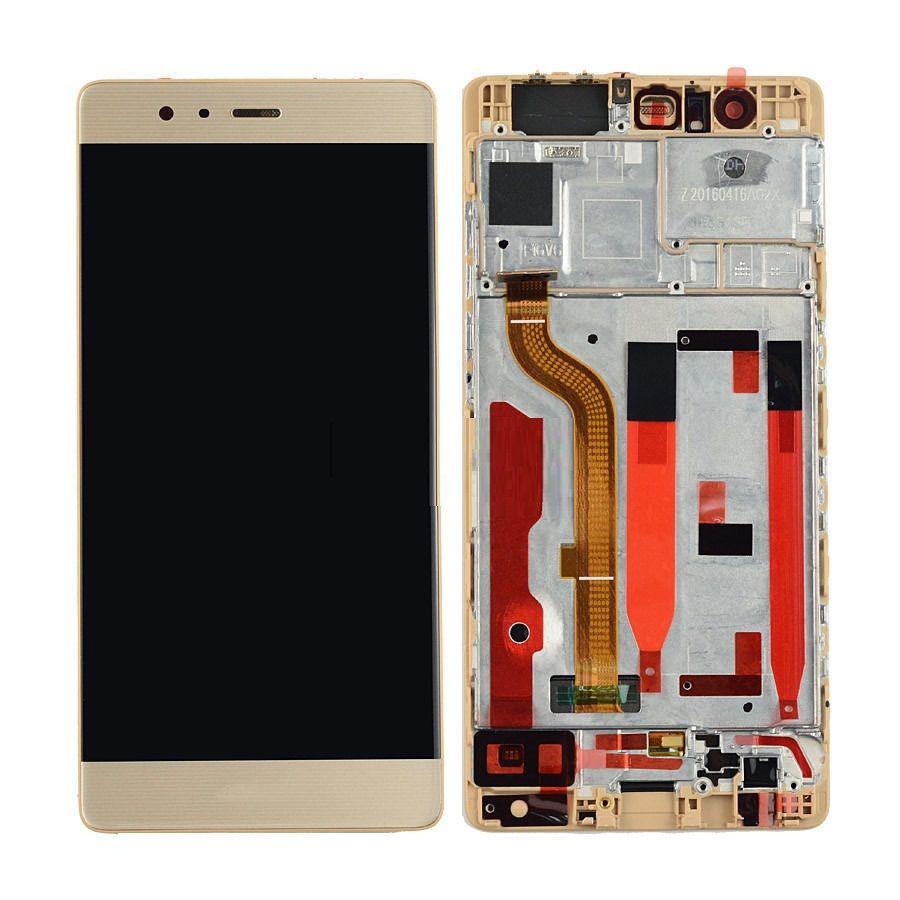 Дисплей для Huawei P9 Plus (VIE-L09/VIE-L29) с тачскрином и рамкой золотистый Оригинал