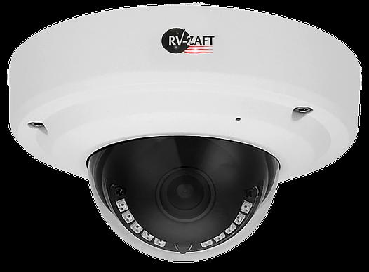 2.0MP Купольная антивандальная IP Камера с ИК-подсветкой RVA-DM350BC80M-XAP, Функции Ultra WDR, StarLight