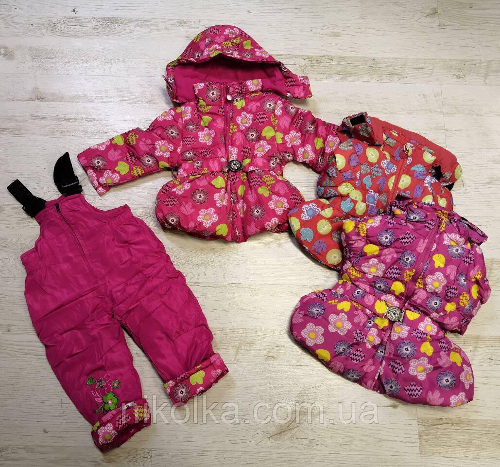 Комбинезон для девочек на флисе оптом (куртка +комбинезон), Seagull, 1-4 лет, арт. CSQ-57010