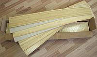 Панель бамбуковая для пола quick floor, светлая, размер панели 120 см х 16,5 см