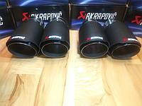 Насадки на глушитель Akrapovic Sport Carbon Акрапович Спорт Карбон 63mm - 90mm