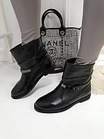 Женские ботинки  черные натуральная  кожа, фото 1