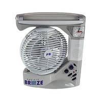🔝 Настольный вентилятор, на аккумуляторе, с часами, PACIFIC BREEZE EL-2102 6 в 1 | 🎁%🚚, фото 1
