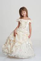 Нарядное платье Любаша 4704 шампань