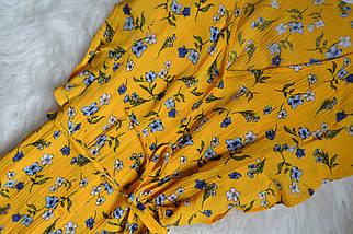 Цветочное миди платье с пуговичками F&F, фото 3